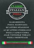 Pizza Chalkboard Menu royalty free illustration