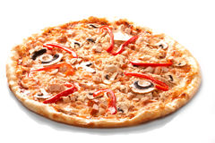 Pizza with champignons Stock Images