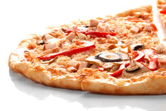 Pizza with champignons Royalty Free Stock Image
