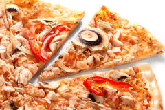 Pizza with champignons Stock Image