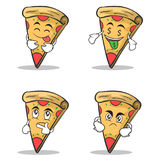 Pizza character cartoon set collection. Vector illustration Stock Photo