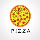 Pizza che consegna rapidamente logo Fotografia Stock