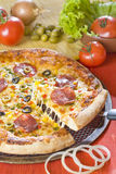 Pizza with cheese Royalty Free Stock Photo