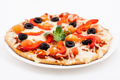 Pizza with  Cheese Royalty Free Stock Photos