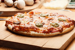 Pizza with cheese Stock Image
