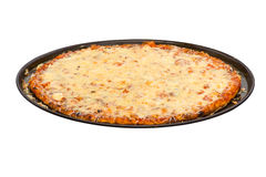 Pizza with cheese isolated on white Stock Images