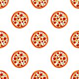 Pizza with Cheese and Tomatoes Pattern Royalty Free Stock Photo