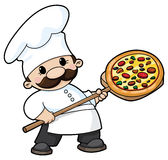 Pizza chef. Illustration of a pizza chef Stock Photos