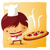 pizza chef vector illustration