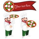 Pizza chef Stock Image