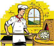 Pizza Chef Royalty Free Stock Images