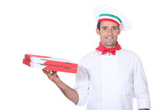 Pizza chef Stock Images