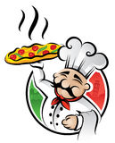 Pizza Chef royalty free illustration