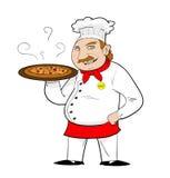 Pizza-Chef Cartoon Stockfotografie