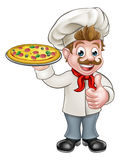 Pizza Chef Cartoon Character Royalty Free Stock Photography
