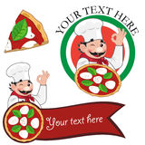 Pizza chef italiano Stock Photos