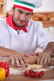 Pizza chef Royalty Free Stock Image