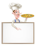 Pizza Chef Sign Stock Photography