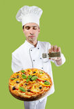 Pizza chef Royalty Free Stock Photos
