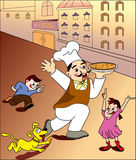 Pizza chef2-color Royalty Free Stock Images