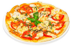 Pizza with chicken Royalty Free Stock Image