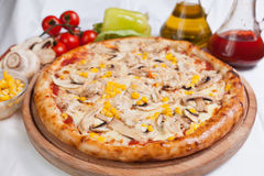 Pizza Chicken and corn Royalty Free Stock Images