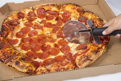 Pizza Ciie W plasterkach obrazy stock