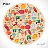 Pizza Circle Concept Stock Photography
