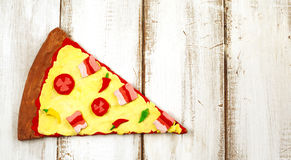 Pizza from clay dough Royalty Free Stock Images