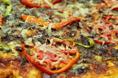 Pizza. A close shot of home made pizza Stock Photography
