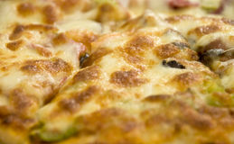 Pizza Close up Stock Photo