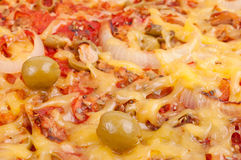 Pizza close-up Royalty Free Stock Images
