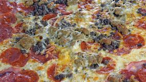 Pizza Close Up Royalty Free Stock Photography