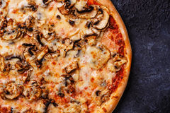 Pizza close up copy space Stock Image