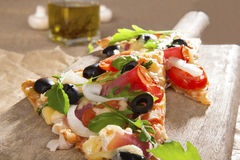 Pizza close up. Royalty Free Stock Image