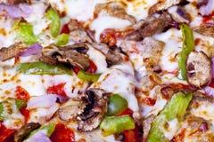 Pizza closeup. Stock Photo