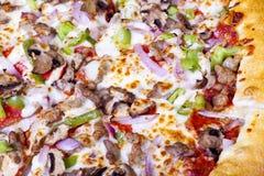 Pizza closeup. Stock Images