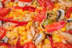 Pizza closeup background Stock Photo