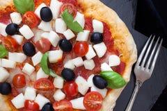 Pizza Closeup Stock Images