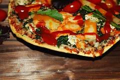 Pizza Closeup royalty free stock image