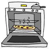 Pizza cocida horno libre illustration