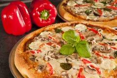 Pizza cocinada Imagenes de archivo