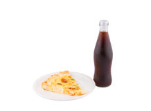 Pizza and Cola Drink II Royalty Free Stock Photo