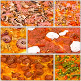 Pizza collage Stock Photography