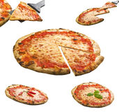 Pizza collage Royalty Free Stock Images