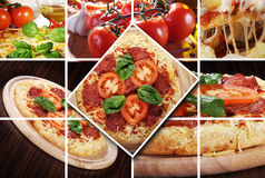 Pizza collage Stock Photo