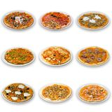 Pizza collection Stock Images