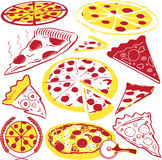 Pizza Collection Royalty Free Stock Photography