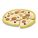 Pizza color vector illustration Royalty Free Stock Images