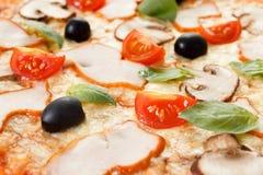 Pizza com cogumelos e vegetais fotos de stock royalty free